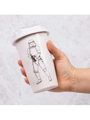 Vaso de Viaje Star Wars Stromtrooper 3D