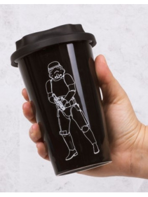 Vaso de Viaje Star Wars Stromtrooper 3D Black