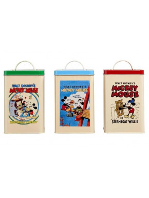 Set 3 Botes Retro Mickey Mouse 90 Aniversario Disney