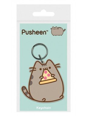 Llavero caucho Pusheen Pizza