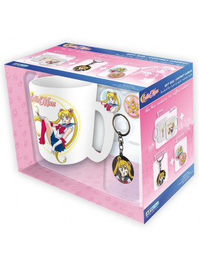 Pack regalo Sailor Moon Taza + Llavero + Chapas