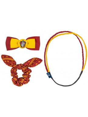Set accesorios para el pelo Harry Potter Gryffindor Trendy