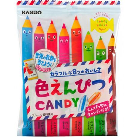 Caramelos Lápiz de Colores Iro Enpitsu Candy 80 gr