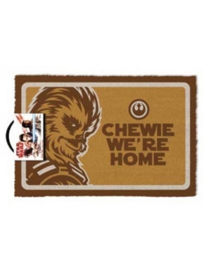 Felpudo coco Star Wars Chewie Were Home
