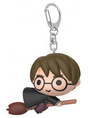 Llavero Kawaii Harry Potter con Escoba Chibi