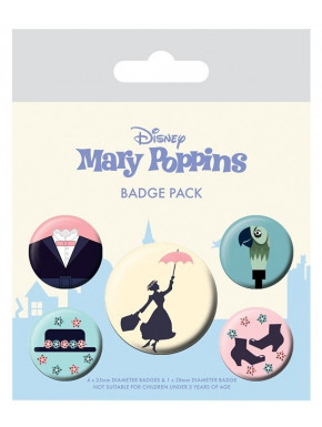Pack de Chapas Mary Poppins Disney