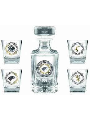 Set Deluxe Botella y vasos de chupito Juego de Tronos