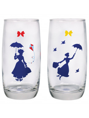 Pack 2 vasos cristal Mary Poppins Disney 350 ml