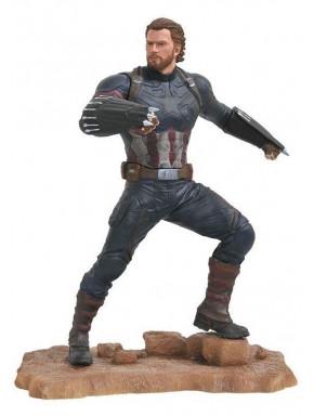 Figura Capitán América Diamont Marvel Gallery 25 cm