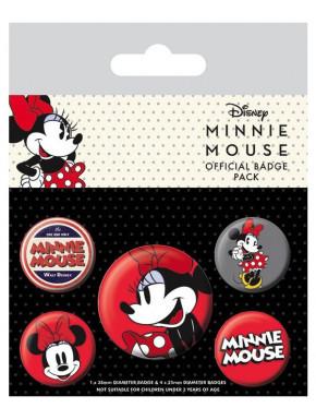 Pack de Chapas Minnie Mouse 90 Aniversario Disney