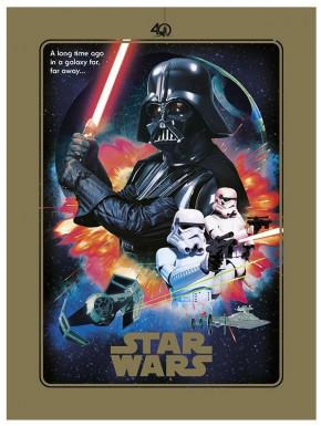Mini Poster metálico Star Wars 40 Aniversario Ed. Especial