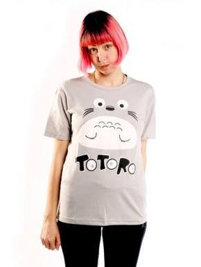 Camiseta Totoro manga corta gris chica