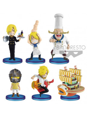 Set de Figuras One Piece WFC Chibi Banpresto 7 cm