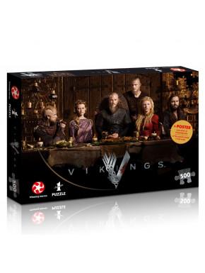 Puzzle Vikings Ragnar's Court 500 piezas