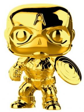 Funko Pop! Capitán América Cromado Oro