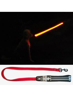 Correa para perro Star Wars Sable Láser con luz