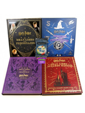 Pack 4 libros mágicos Harry Potter