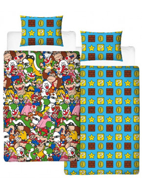 Funda Nórdica Super Mario Reversible