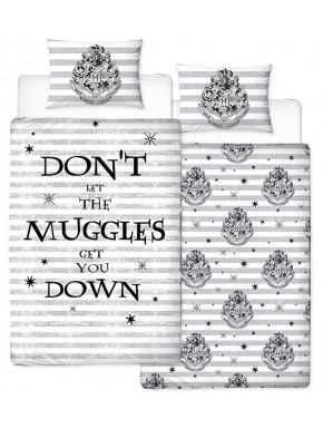 Funda Nórdica Hogwarts Harry Potter Reversible Individual