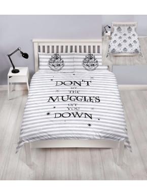 Funda Nórdica Hogwarts Harry Potter Reversible Doble