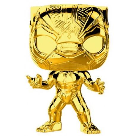 Funko Pop! Black Panther Cromado Oro Marvel