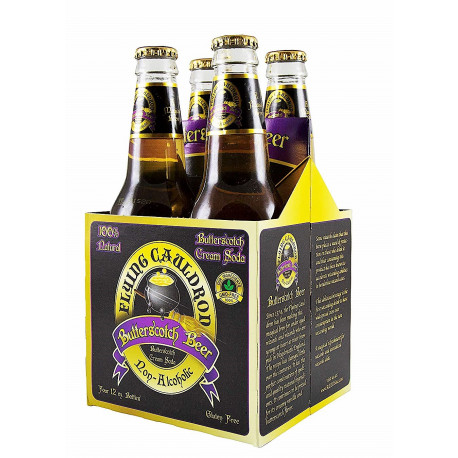 PACK 4 Cerveza de Mantequilla Harry Potter Flying Cauldron