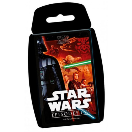 Juego de cartas Star Wars Top Trumps Episodios I-III
