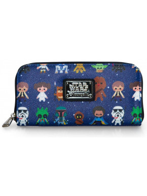 Cartera Billetera Star Wars Personajes Kawaii