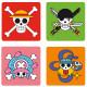 Set 4 posavasos One Piece Skulls