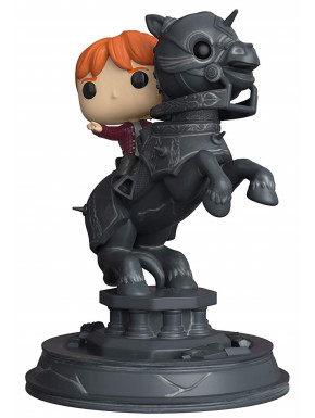 Funko Pop! Ron sobre Pieza de Ajedrez Harry Potter Movie Moments