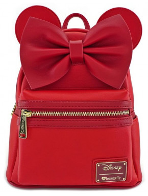 Bolso mochila Loungefly Minnie Mouse Disney Red