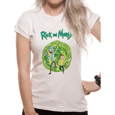 Camiseta Chica Rick y Morty Portal
