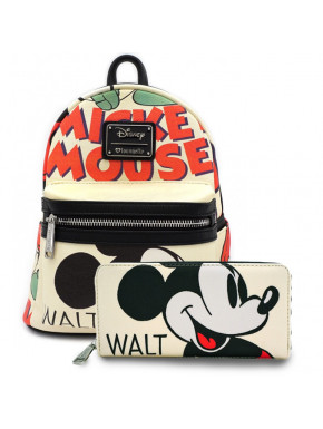 Pack bolso + cartera Loungefly Mickey Mouse Classic
