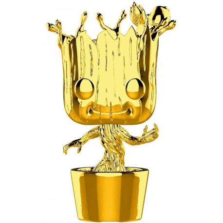 Funko Pop! Groot Cromado Oro Marvel