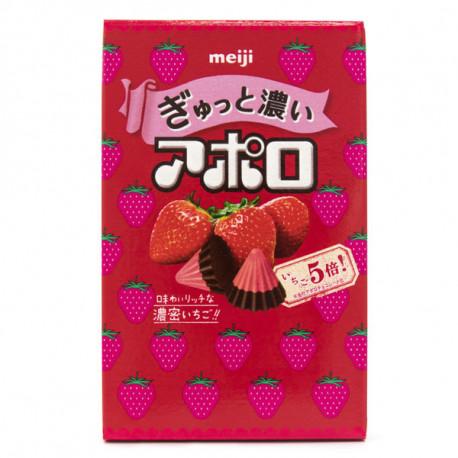 Meiji Conos Snack de chocolate y Fresa