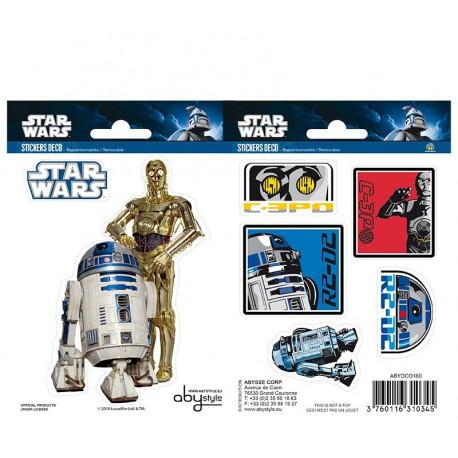 Set pegatinas Vinilo Star Wars R2-D2 C3PO