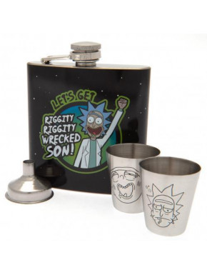 Set Petaca y Vasos Rick y Morty Deluxe