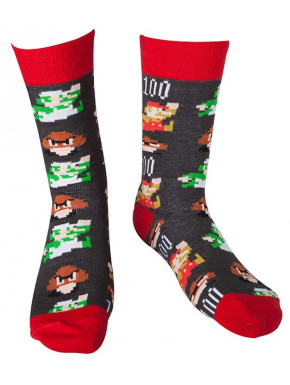 Calcetines Super Mario Pixel