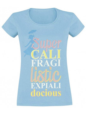 Camiseta Chica Disney Mary Poppins supercalifragilisticoespialidoso