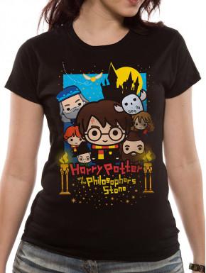 Camiseta Chica Personajes Harry Potter Kawaii