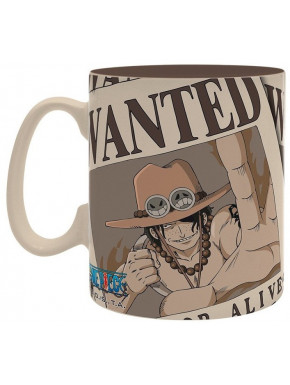 Taza Grande Ace One Piece Wanted