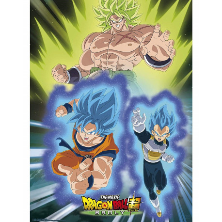 Poster Broly vs Goku & Vegeta Dragon Ball
