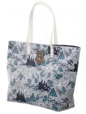Bolso con asas Hogwarts Harry Potter Drawings