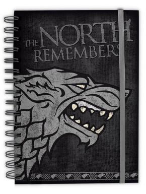 Libreta Cuaderno A5 Juego de Tronos The North Remembers