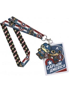 Llavero Colgante Backstage Capitán América Funko