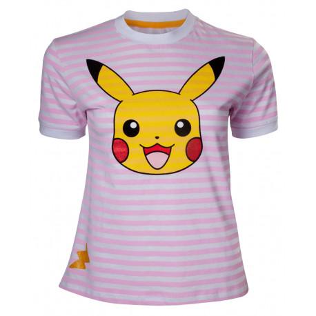 Camiseta Chica Pikachu Rayas Pokemon