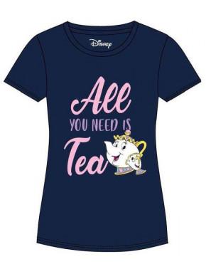 Camiseta Chica Disney La Bella y la Bestia Chip y Señora Potts