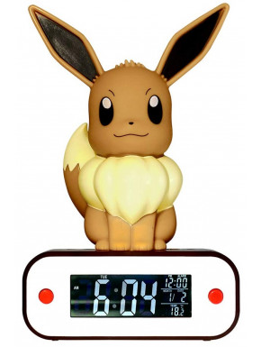 Reloj Despertador Lámpara Led Eevee Pokemon