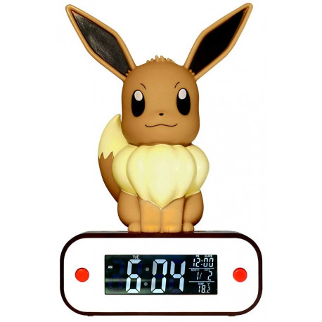 Reloj Despertador Lámpara Led Eevee Pokemon