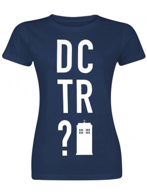 Camiseta Chica Doctor Who Tardis DCTR